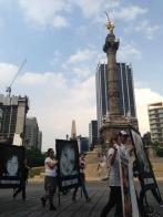 La marcha sale del Ángel de la Independencia.